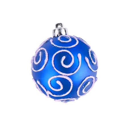 isolataion: blue christmas ball isolated on white background Stock Photo