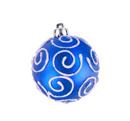 isolataion: blue christmas ball isolated on white background Stock Photo