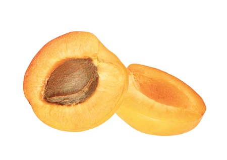 fresh juicy apricot isolated on white background photo