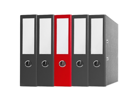 Office folders black and red isolated on the white background Stock Photo - 14068083