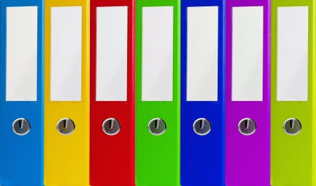 Colorful office folders background photo