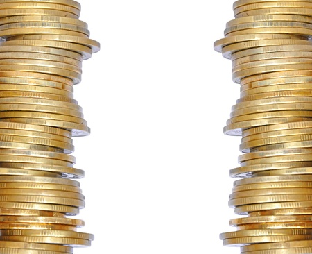 golden coins isolated on white Stock Photo - 15898716