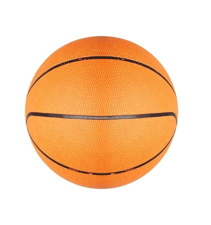 panier basketball: Ballon de basket orange isol� sur fond blanc