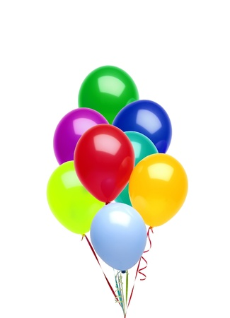 Colorful balloons isolated on white background Stock Photo - 15898738