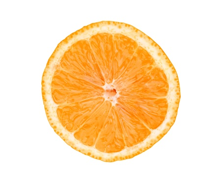 Big fresh juicy orange slice isolated on white background Stock Photo - 17859725