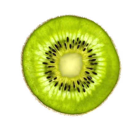 Beautiful slice of fresh juicy kiwi isolated on white background Stock Photo - 17859728