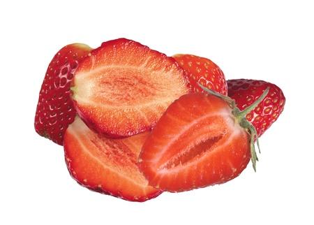sweet strawberries isolated on white Stock Photo - 17984551