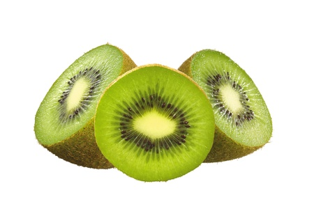 Juicy kiwi fruit isolated on white Stock Photo - 17984549