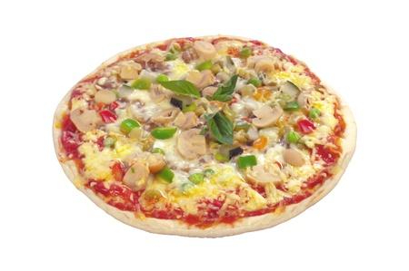 Tasty pizza isolated on white background Stock Photo - 18905458