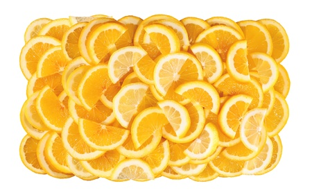 Lemon slices isolated on white background Stock Photo - 18905464