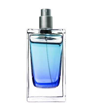 mens perfume in beautiful bottle isolated on white  photo