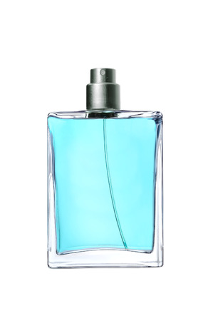 mens perfume in beautiful bottle isolated on white background photo