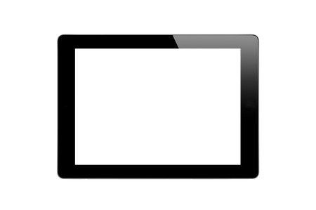 Black Touch Screen Tablet isolated on white  photo