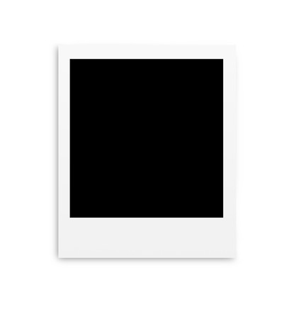 Photo papers polaroid card isolated on white  Stock Photo