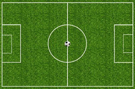 Fußballplatz grünen Gras Standard-Bild - 26072242