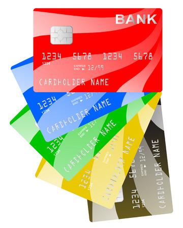 security lights: Vector credit cards