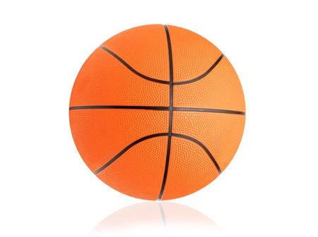 Basketball ball isolated on white background photo