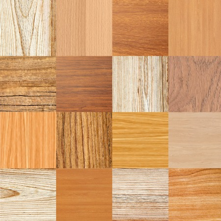 Collage of different wooden texture photo