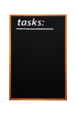 blankness: Tasks title written with chalk on blackboard