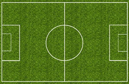 Soccer field green grass