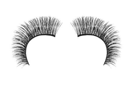false eyelash: Black false eyelash isolated on white background Stock Photo