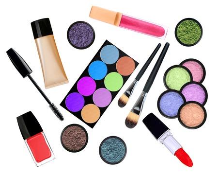 beautiful decorative cosmetics, isolated on white photo