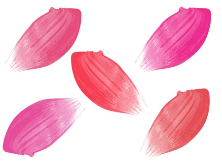Different lip glosses isolated on white background