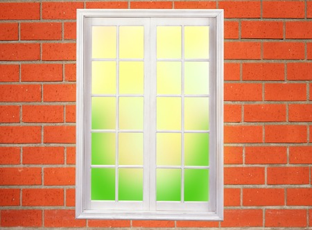 window on the brick wall photo