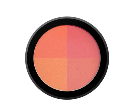 colorant: face powder blush isolated on white background