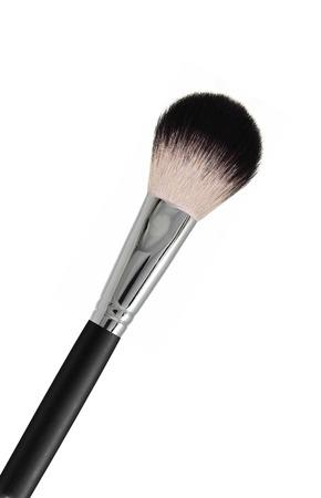 make up brushes: Brush for powder isolated on white background Stock Photo