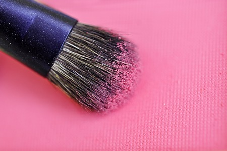 blush: Make-up brush pink crushed blush