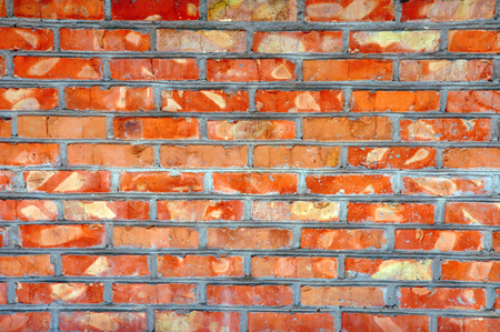 red wall: Red brick wall background