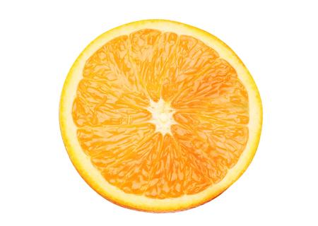 juicy orange slices isolated on white background