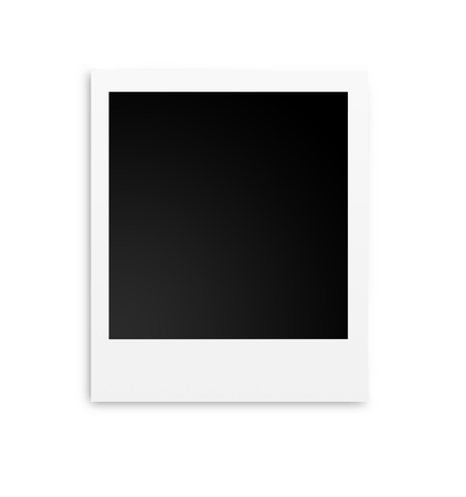 Photo papers polaroid card isolated on white background Reklamní fotografie
