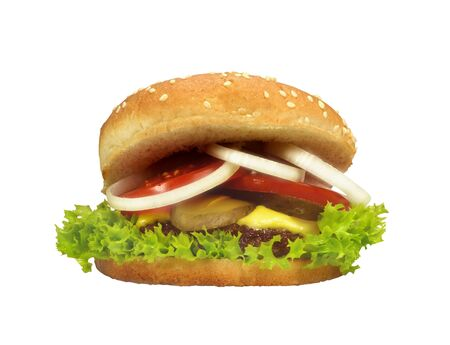 Burger isolated Standard-Bild