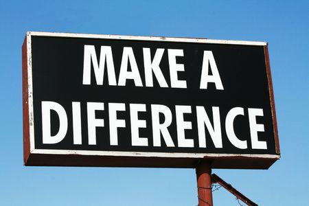 unterschiede: Machen Sie einen Unterschied unterzeichnen