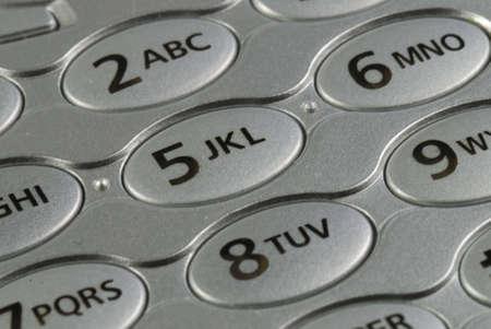 携帯電話の数字パッドをクローズ アップ