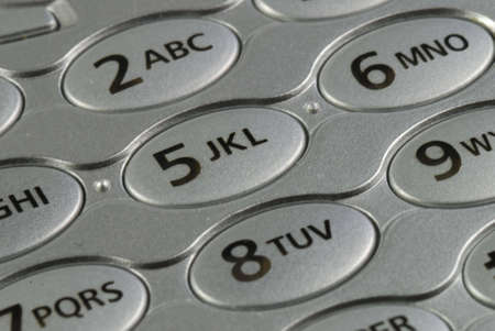 number pad on a cell phone close up Stock Photo
