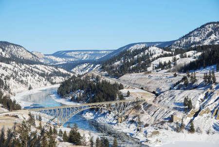 chilcotin bridge over the fraser river in bc