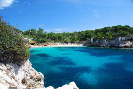 島マヨルカ島スペインの海岸ライン 写真素材