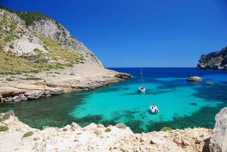 beautiful beach on the island mallorca