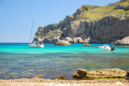 mallorca: beautiful beach on the island mallorca spain Stock Photo