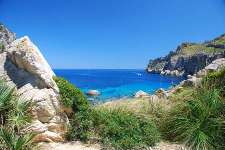 mallorca: beautiful bay on the island mallorca spain Stock Photo