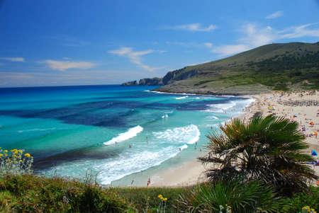 beautiful beach on the island mallorca spain Stock Photo