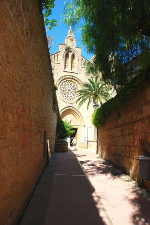 mallorca: old church on the island mallorca spain Stock Photo