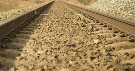 endless: endless traintracks on a rocky bed