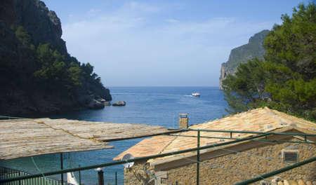 the coast line of the island mallorca spain