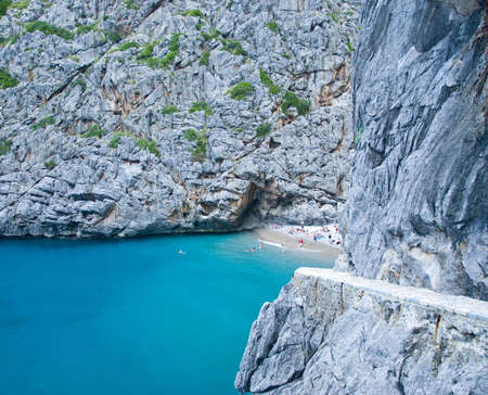 beautiful beach in the mountains of mallorca spain