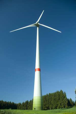 収縮側と美しい夏の日の風車