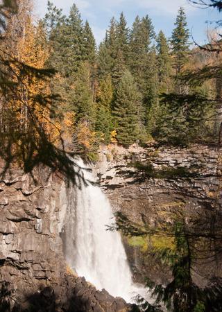 Canim Lake Falls Stock Photo